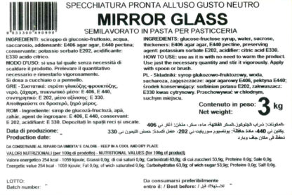 MIRROR GLASS – GLASSA A SPECCHIO neutra secchio 3 Kg - LAPED
