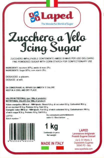 ZUCCHERO A VELO sacchetto 1 Kg - LAPED