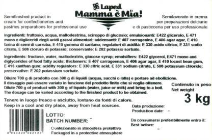 MAMMA E' MIA! Glassatura secchiello 3 Kg - LAPED