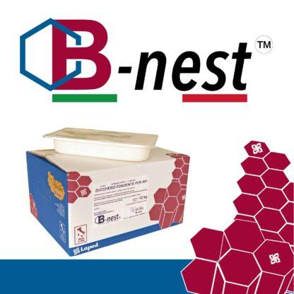 B-NEST Mangime - zucchero candito per api - 8 vaschette da 1,5 Kg