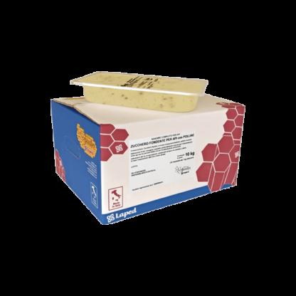 B-NEST zucchero candito per api PROTEICO con POLLINE - 10 vaschette da 1 Kg