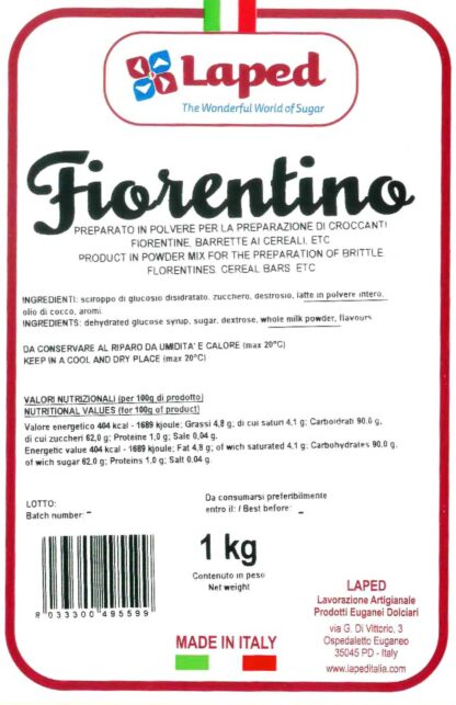 FIORENTINO – Preparato per croccanti 1Kg